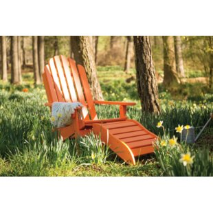 Loon Peak Lucasta Plastic Adirondack Chair with Ottoman