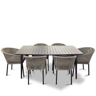 Euart Outdoor 7 Piece Dining Set with Cushions by Brayden Studio