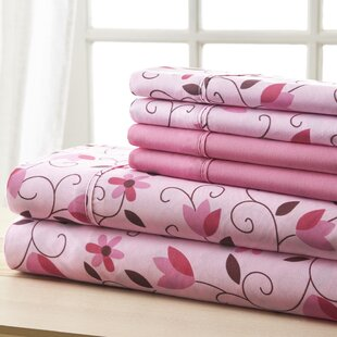 Socorro Pink and Brown Leaves Sheet Set