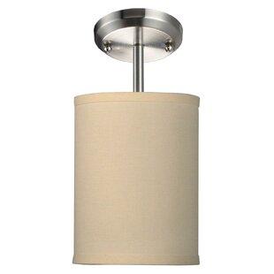 Kasey 1-Light Cylinder Pendant by Mack & Milo