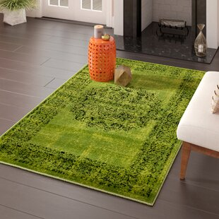 Neuilly Sage Green Black Area Rug