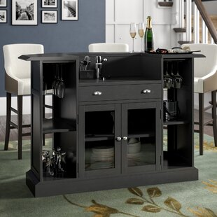 Anselm Bar with Wine Storage by Darby Home Co