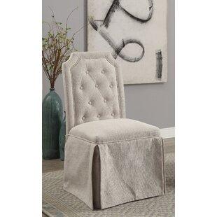 One Allium Way Sickmeier Upholstered Dining Chair Set (Set of 2)