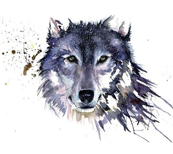 Art Group Snow Wolf Painting Print Amp Reviews Wayfair Co Uk