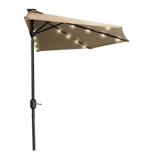 Calne Patio LED Half Market Umbrella