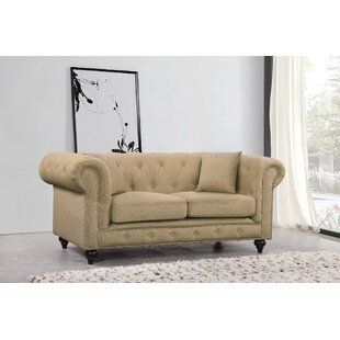 Bottom Chesterfield Loveseat