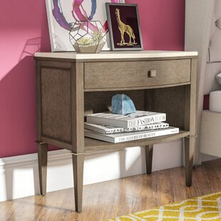 Everly Quinn Albright 1 Drawer Nightstand