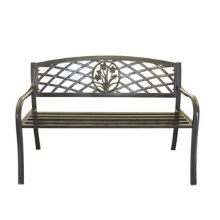 Pier Surplus Flower Bouquet Cast Iron and Steel Park Bench