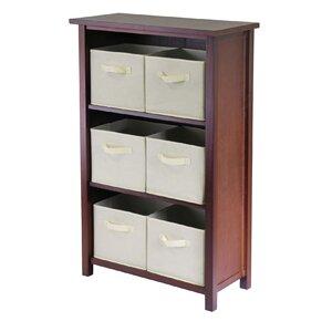Loganton 6 Drawers Storage Shelf with Foldable