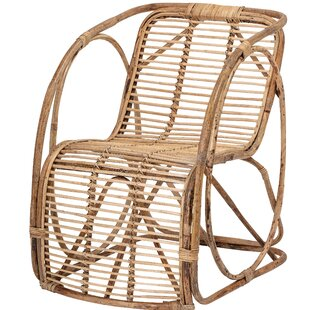 Kleiber Rattan Armchair by Bungalow Rose