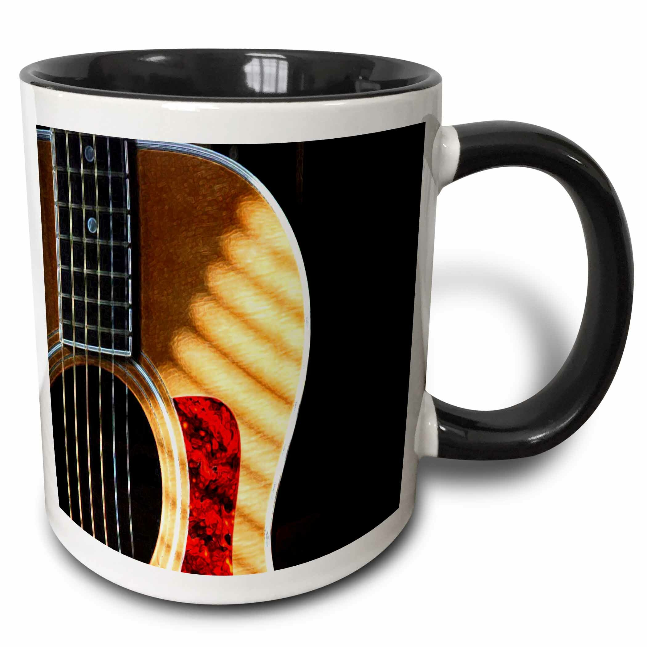 East Urban Home Digitally Painted Acoustic Guitar In Shadow Coffee Mug Wayfair