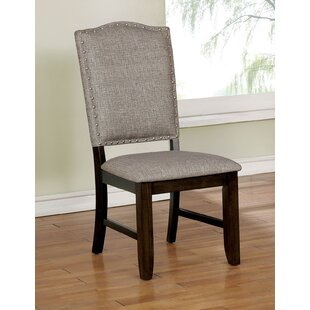 Matterson Wooden Upholstered Dining Chair (Set of 2)
