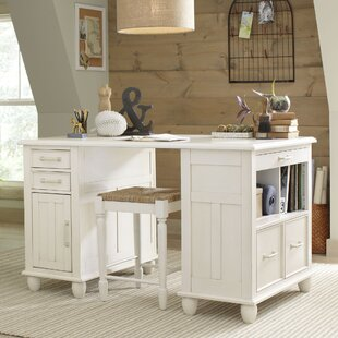 Madelynn Solid Wood Executive Desk by Alcott Hill