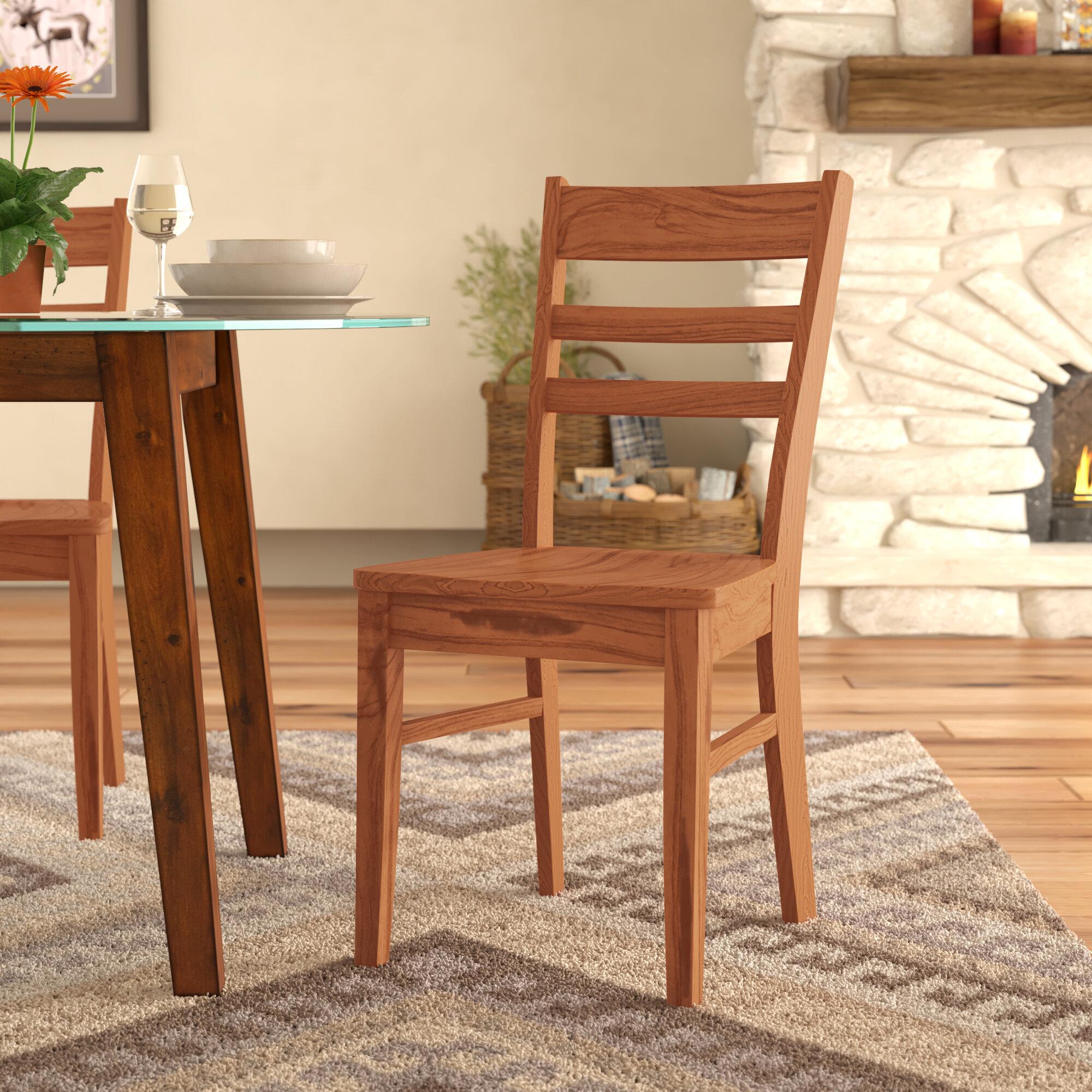 Loon Peak Fresno Ladder Back Solid Wood Dining Chair Wayfair
