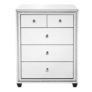 Rosdorf Park Laster Crystal 5 Drawer Chest