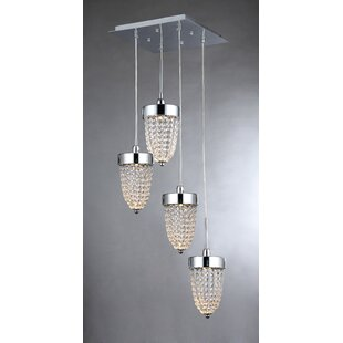 Laurie 4-Light Cascade Pendant..