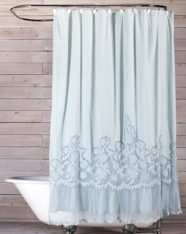 Attractive Caprice Cotton Shower Curtain
