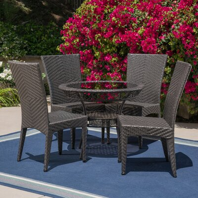 Lindahl Outdoor 5 Piece Dining Set by Charlton Home