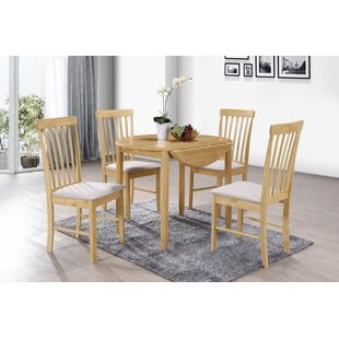 Adira Folding Dining Set With 4 Chairs By Brambly Cottage