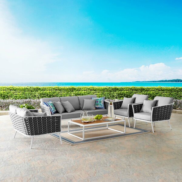 Rossville 7 Piece Sofa Seating Group With Cushions Allmodern