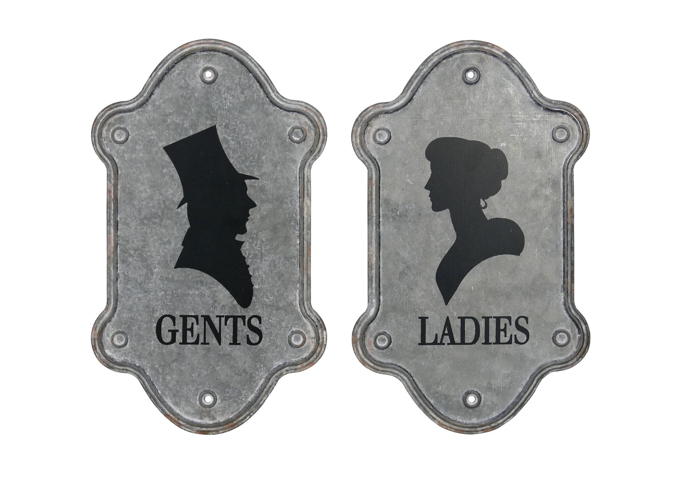 Toilet Door Unisex Ladies Entrance Sign Various Colours /& Styles Mens