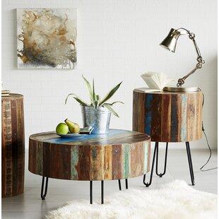 Amity Coastal 2 Piece Coffee Table Set By World Menagerie