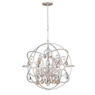 Willa Arlo Interiors Jitu 6-Light Crystal Chandelier