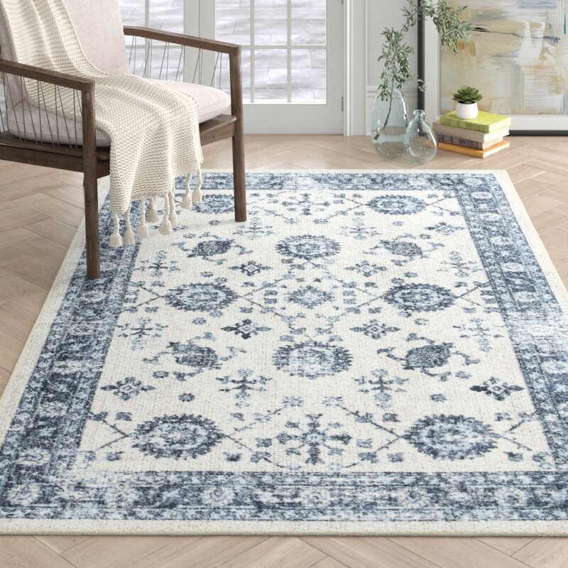 Pippin Gray Blue Area Rug Reviews