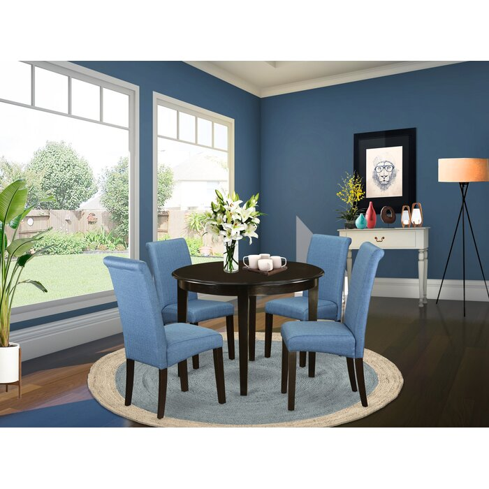 on sale 05f4e 0724b Amya Small Kitchen Table 5 Piece Solid Wood Breakfast Nook Dining Set