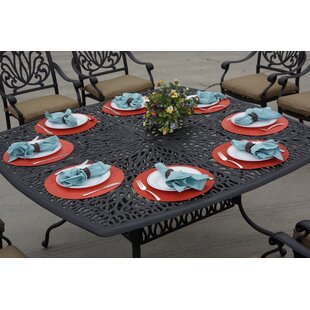 Lebanon Metal Dining Table by Three Posts