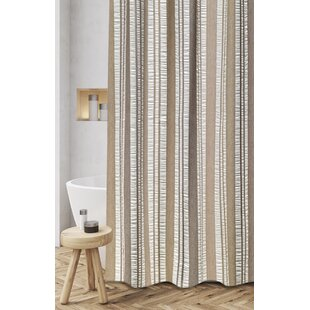 Polen Woven Jacquard 100 Cotton Shower Curtain By Loon Peak