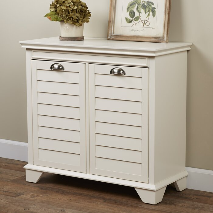 open laundry hamper cabinet bathroom with