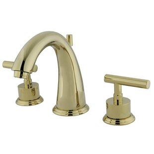 Look for Manhattan Widespread Bathroom Faucet with Brass Pop-up ByKingston Brass
