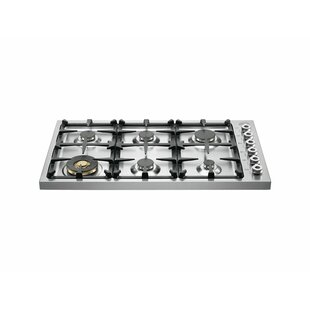 Pro Series 37'' Gas Cooktop with 6 Burners