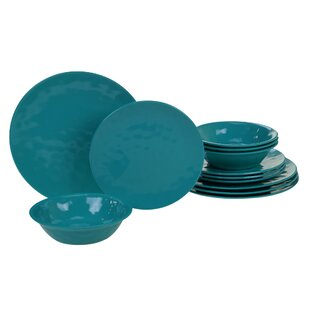 Dileo 12 Piece Melamine Dinnerware Set, Service for 4