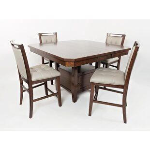 Johnsburg 5 Piece Dining Set Red Barrel Studio