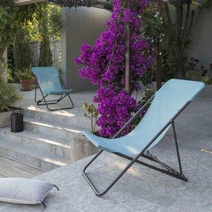 Reclining Folding Beach Chair By Lafuma