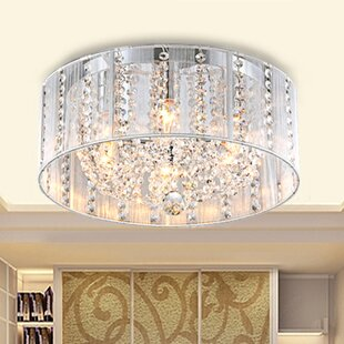 Great Price Addison 4-Light Flush Mount By Warehouse of Tiffany