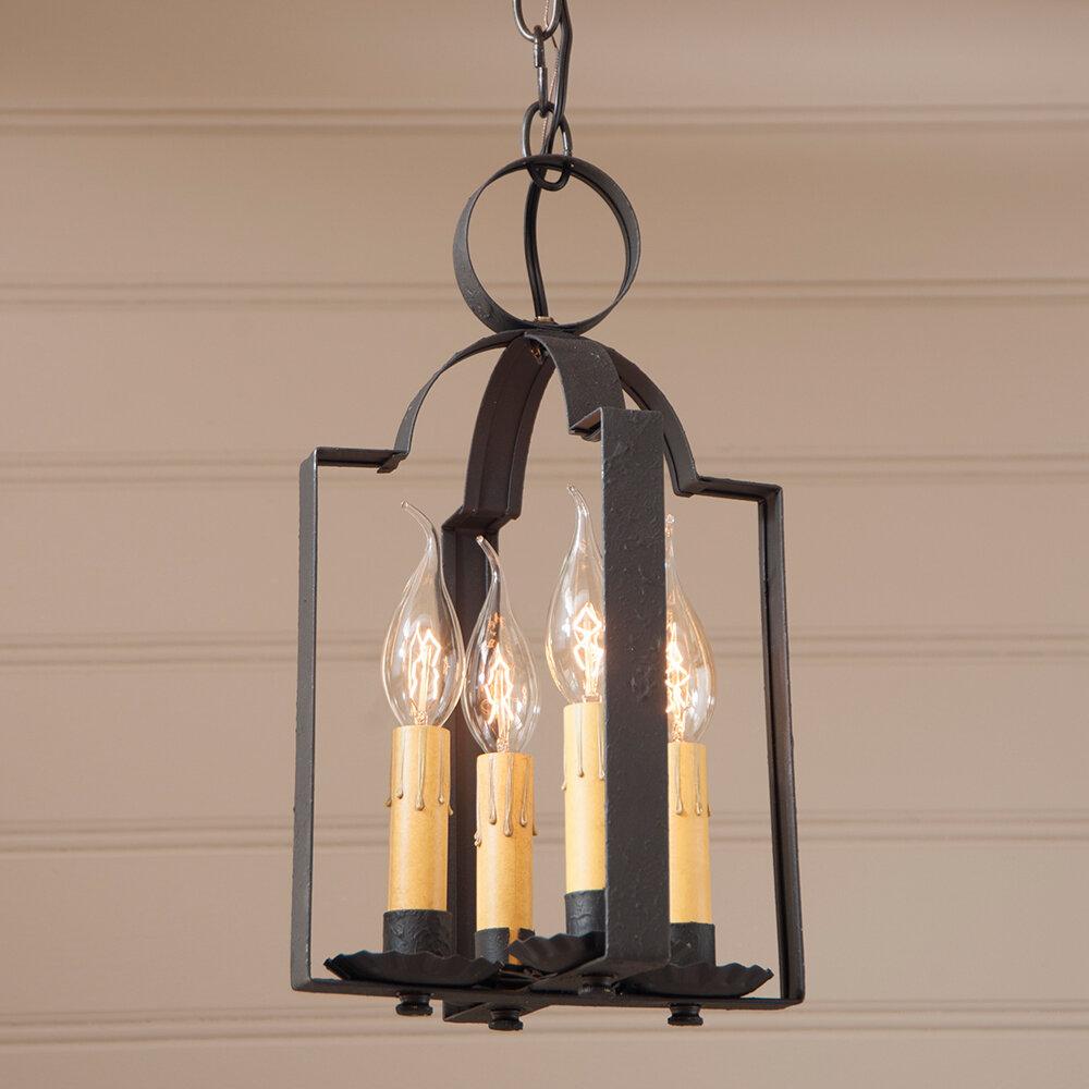 Gracie Oaks Wellston 4 Light Lantern Geometric Pendant Wayfair