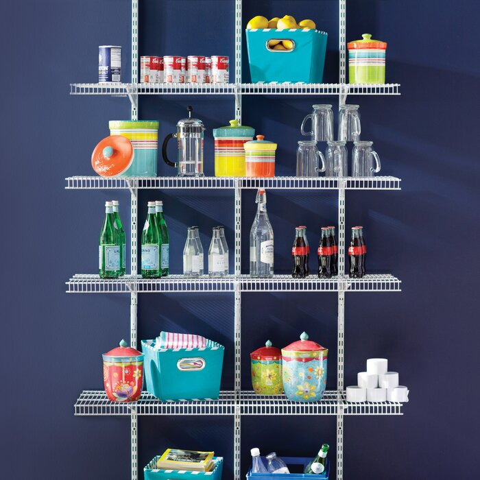 ClosetMaid ShelfTrack 4-Ft. Pantry Organizer Kit