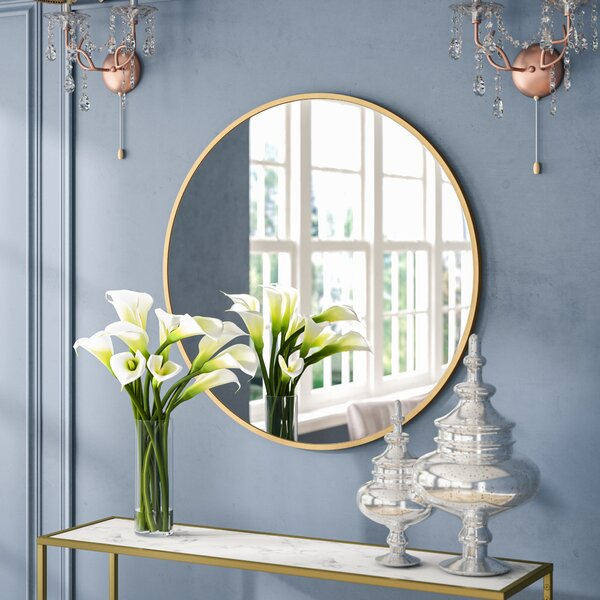 Everly Quinn Katsikis Round Accent Wall Mirror & Reviews by Everly Quinn