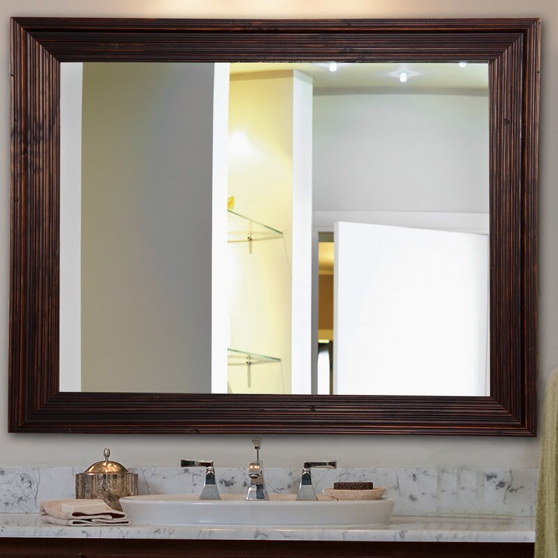Handcrafted Dark Brown Wall Mirror
