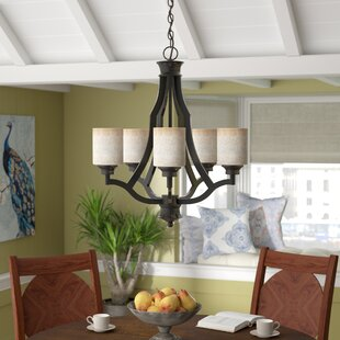 Check Prices Garza 5-Light Shaded Chandelier By World Menagerie