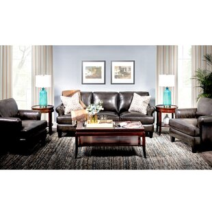 Chicoine Top Grain Leather Configurable Living Room Set by Red Barrel Studio