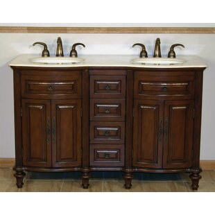 Pina 55 Double Bathroom Vanity Set By Astoria Grand