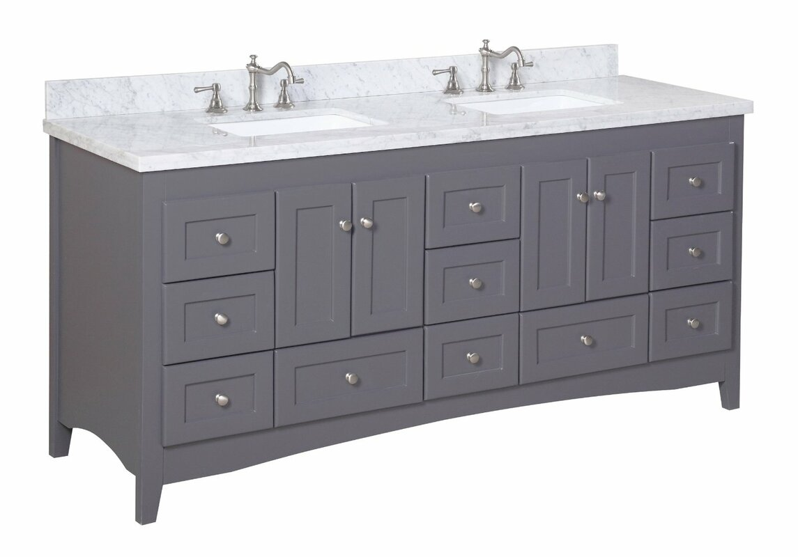 Bathroom vanities madison wi - Abbey 72 Double Bathroom Vanity Set