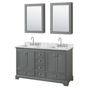 Deborah 60 Double Bathroom Vanity Set with Medicine Cabinet By Wyndham Collection