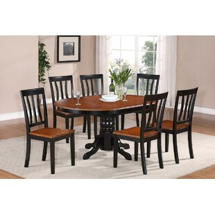 Spurling 7 Piece Extendable Solid Wood Dining Set August Grove