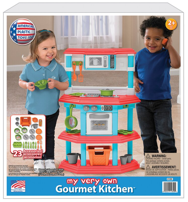 American Plastic Toys 23 Piece My Very Own Gourmet Kitchen Set ...