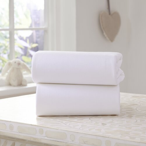 Clair de Lune - White - Cot - Bed Sheets - 2 Pack